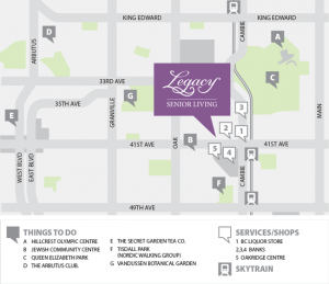 Legacy Senior Living Map
